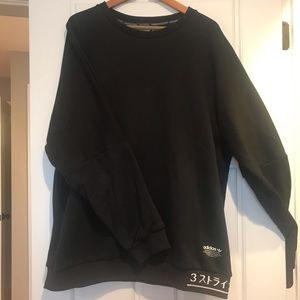 Adidas - 3 Stripe black sweatshirt XL